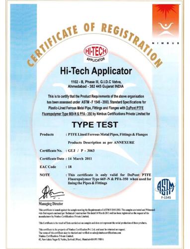 Hi-Tech Applicator | India's Leading PTFE Lined Valve & Tube